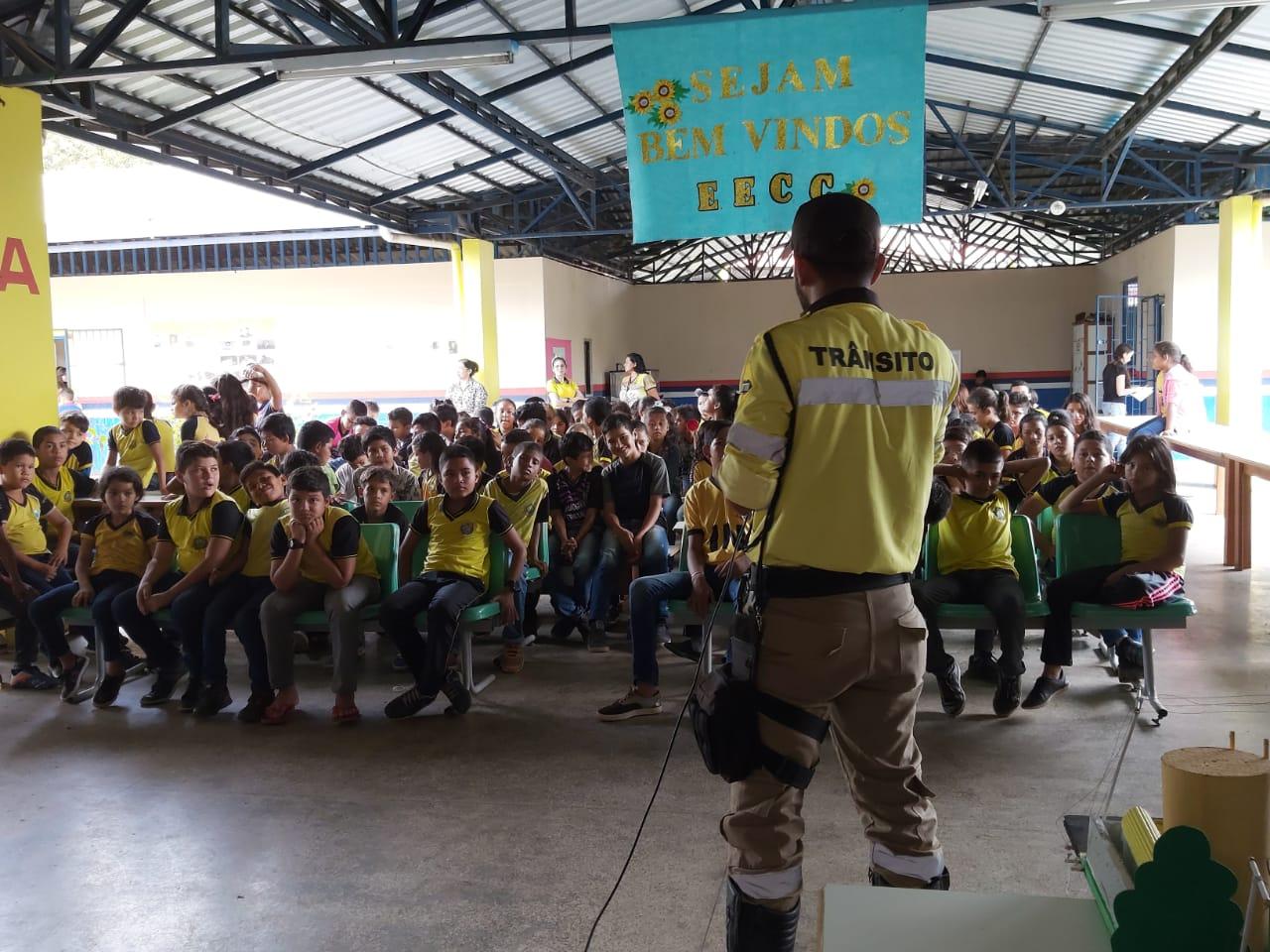 Cerca de dez mil estudantes são alcançados por projeto de Educação para o Trânsito no interior do Amazonas