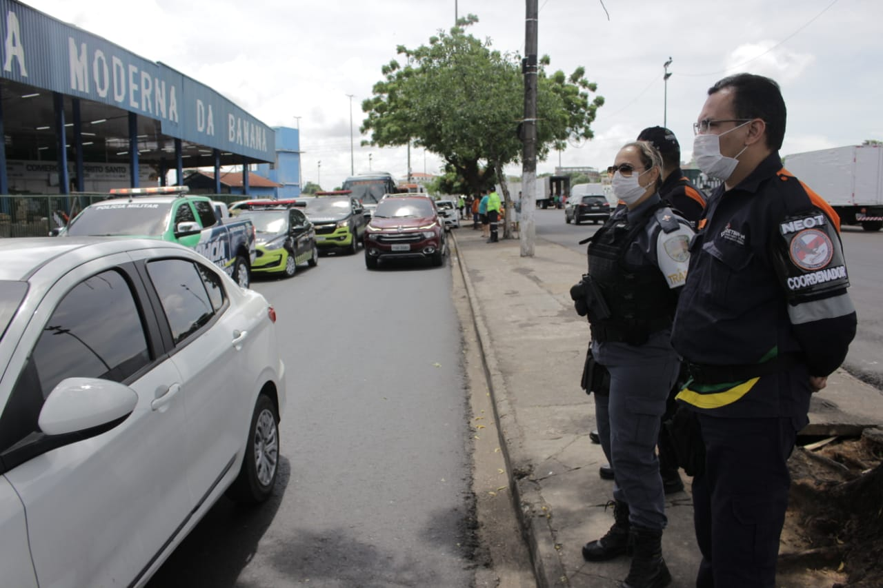 Detran-AM participa de ações para evitar aglomeração de pessoas nas ruas de Manaus